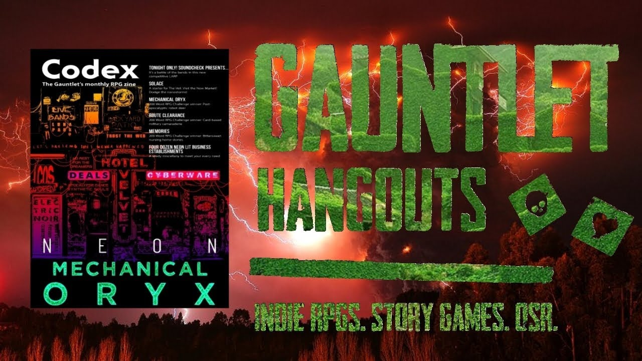 Gauntlet CodeX-Files Codex-Neon Mechanical Oryx/Maze Rats 1 of 2