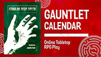 Cthulhu Deep Green: Operation Fulminate (1 of 2)