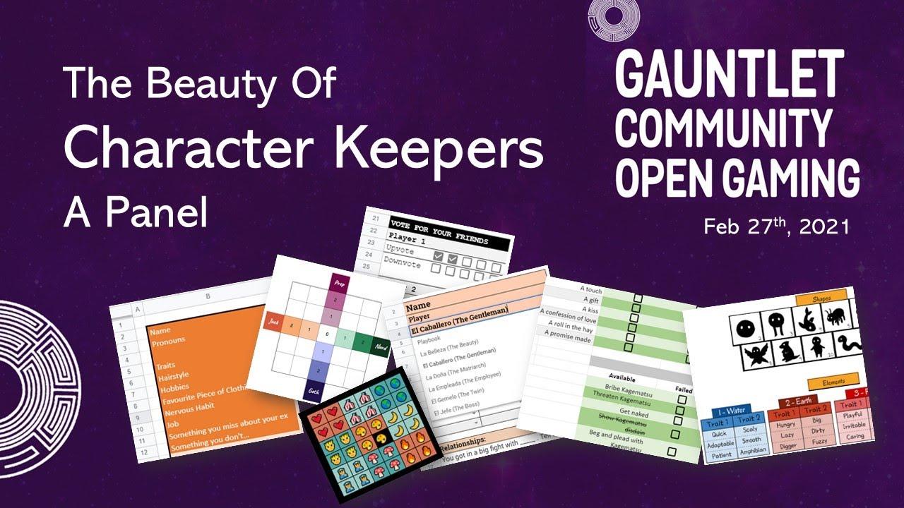 Character Keeper panel at GCOG