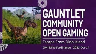 GCOG October 2021 - Escape From Dino Island